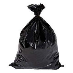 HDPE afvalzak zwart 45009