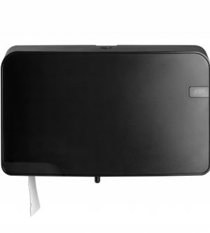 Toiletroldispenser - Mini Duo Jumbo Black Quartz
