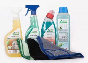 MVO kennismakingspakket goedgekeurde milieuvriendelijke Green Key reinigingsmiddelen