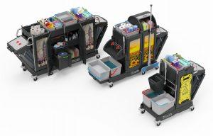 Numatic werkwagens configureren en zelf samen te stellen en personaliseren van werkwagen
