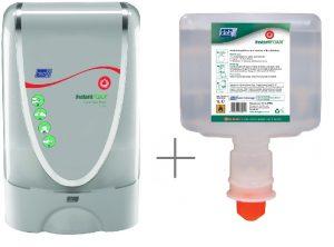 Dispenser Deb InstantFOAM TouchFree 1,2L + 4 batt. + handdesinfectie vulling