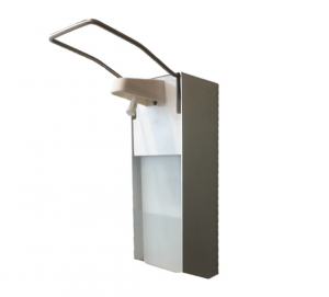 Zeep&desinfectie aluminium elleboogdispenser