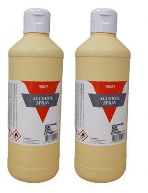 Tendo Alcoholspray 70% navulling 2x500 mL