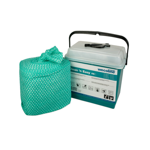 Clean 'n Easy disposable 70% ethanol doeken voor oppervlakkend150x +emmer